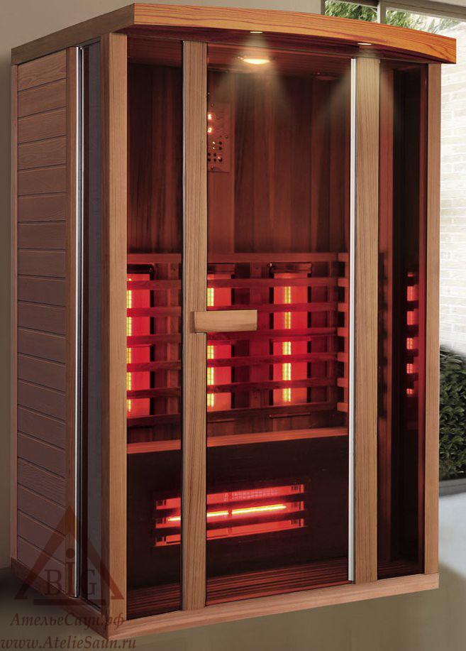 Инфракрасная сауна KOY R02-JK71 (2-местная, красный канадский кедр, 130х100х198 см)
