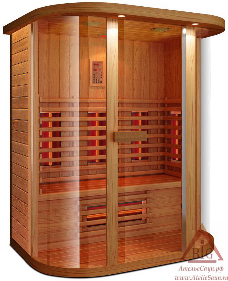 Инфракрасная сауна KOY R04-JK71 (3-местная, красный канадский кедр, 150х100х198 см)