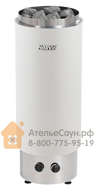 Электрическая печь Harvia Cilindro PC 90 VF (белая, со встроенным пультом)