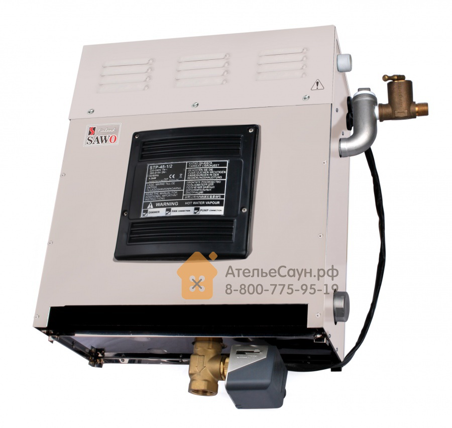 Парогенератор Sawo STP-35-1/2 SST-DFP (сенсорный пульт, автоочистка, 3 доп. функции)