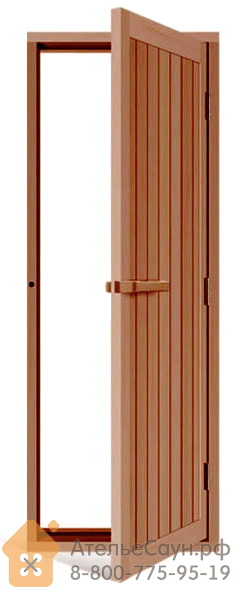 Дверь для сауны Sawo 734-4SD (700x2040 мм, деревянная глухая, с порогом, кедр)
