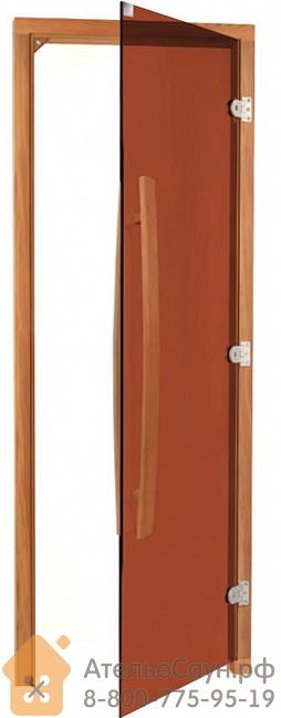 Дверь для бани Sawo 741-3SGDR (7х19, бронза, правая, без порога, с вертик. ручкой, кедр)