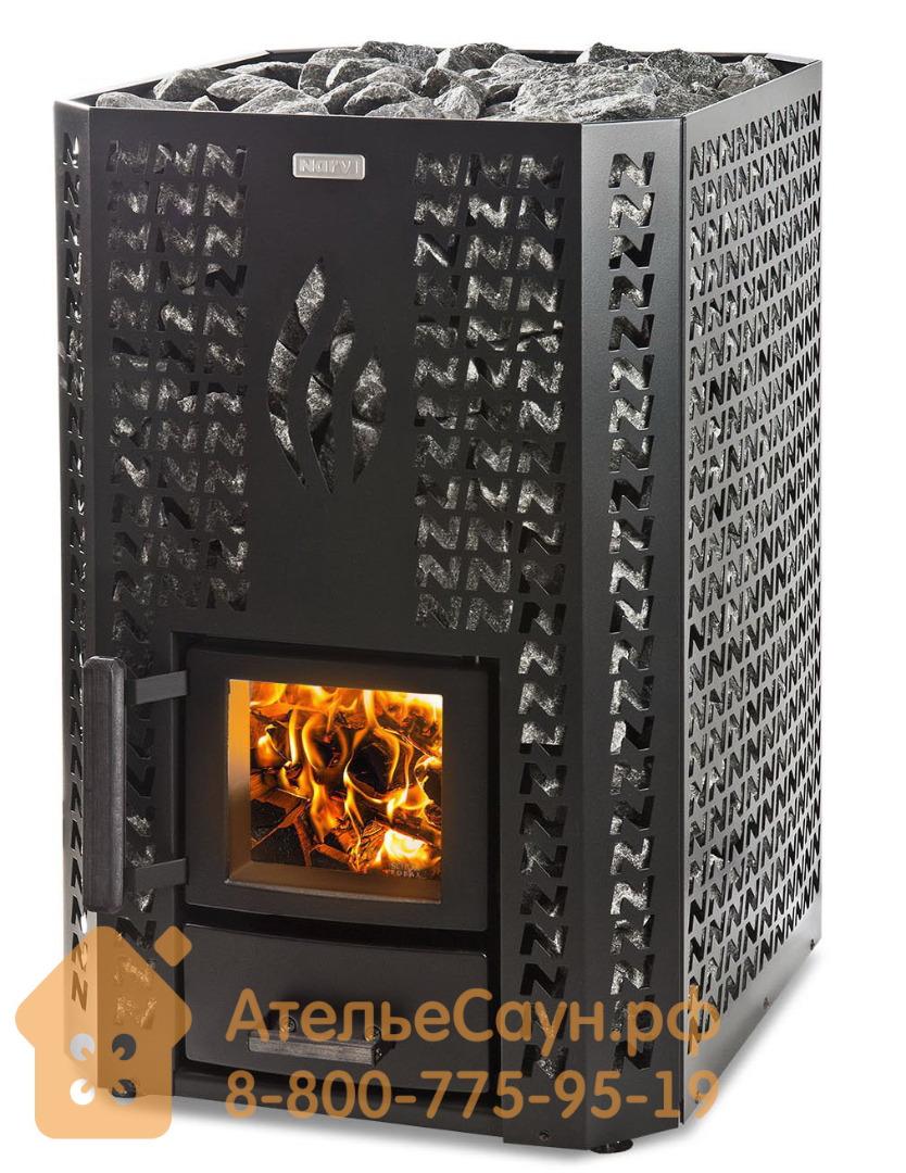 Дровяная печь Narvi Stony 20 (чёрная)