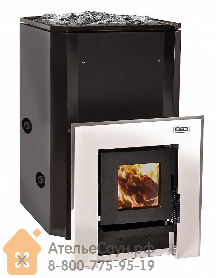 Дровяная печь Aito 20 ST Boiler L (выносная топка, теплообменник слева, арт. 2163)