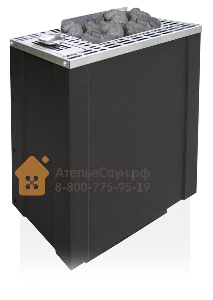 Печь EOS BI-O-Filius 7,5 кВт (антрацит, с парогенератором)
