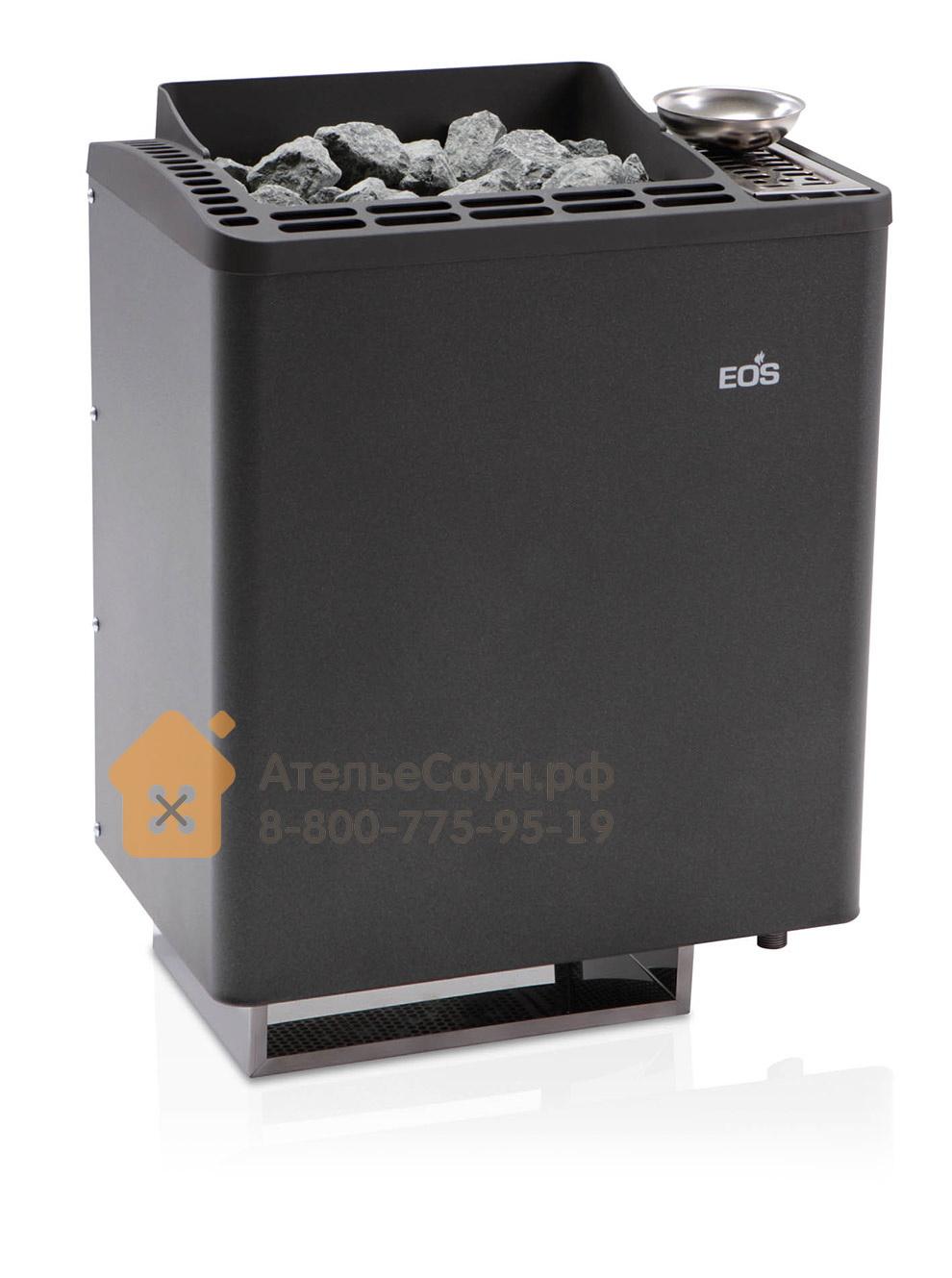 Печь EOS Bi-O-Tec 9,0 кВт (антрацит, с парогенератором)