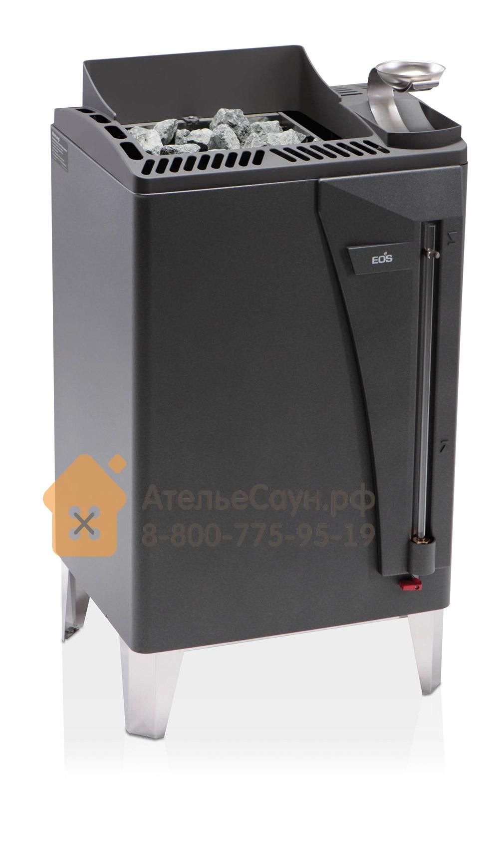 Печь EOS Bi-O-Max 15,0 кВт (антрацит, с парогенератором)