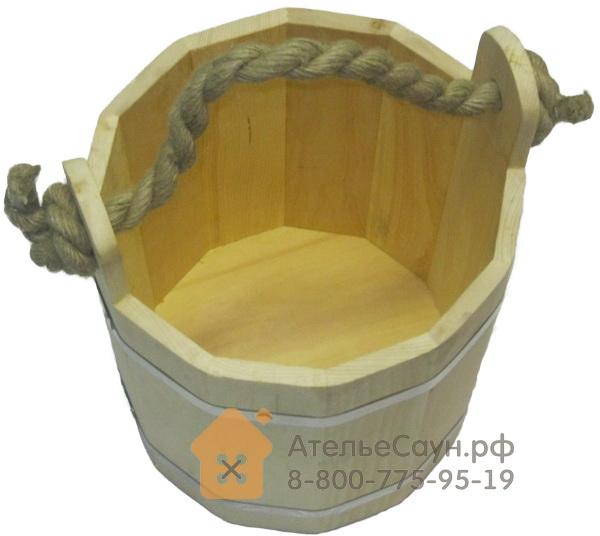 Ведро для бани 15 л (сибирский кедр)