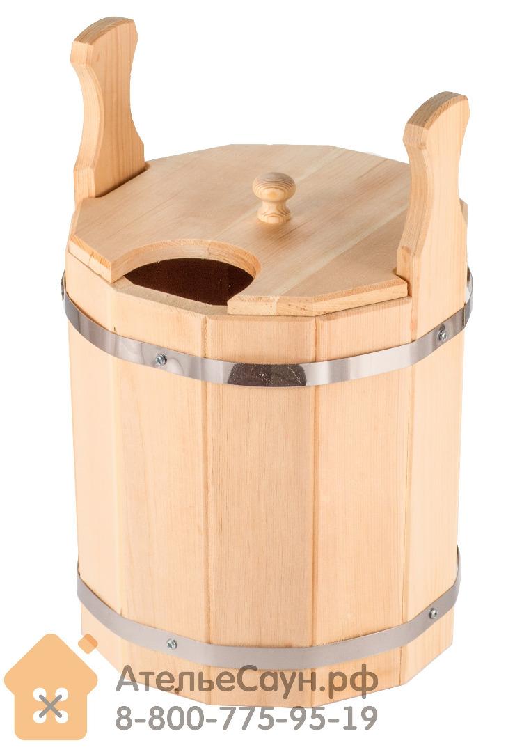 Запарник для бани с крышкой 10 л (сибирский кедр)