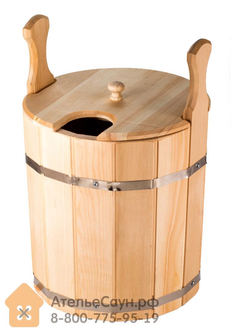 Запарник для бани с крышкой 15 л (сибирский кедр)