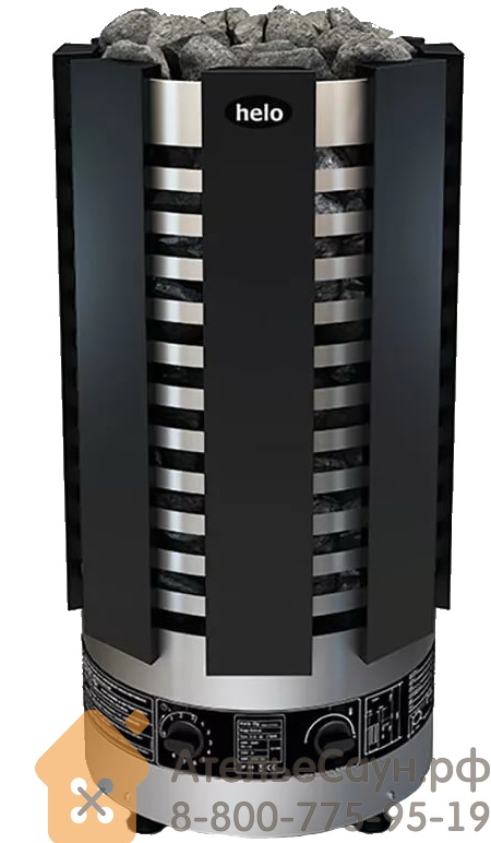 Печь для сауны Helo Ringo Robust 80 STJ Black (с пультом, черная, арт. 001845)
