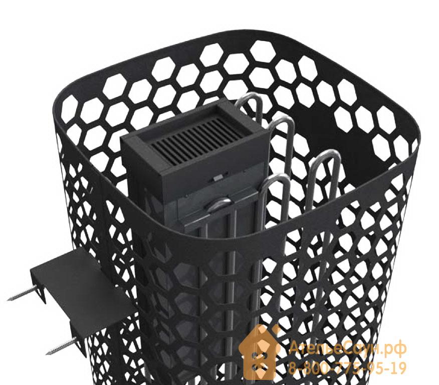 Электрокаменка Helo HIMALAYA 90 DE (сетка, пульт MIDI в комплекте, чёрная)