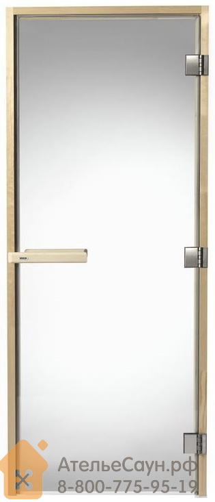 Дверь для сауны Tylo DGB 7x19 (прозрачная, сосна, арт. 91031505)