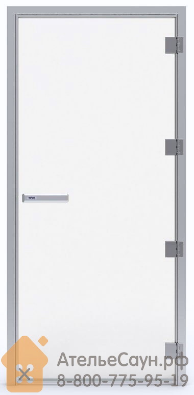 Дверь для турецкой парной Tylo 60 G 9x20 (прозрачная, правая, алюминий, арт. 90912256)