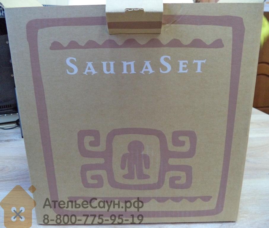 Чаша SaunaSet из нержавеющей стали (6 л, деревянная ручка)