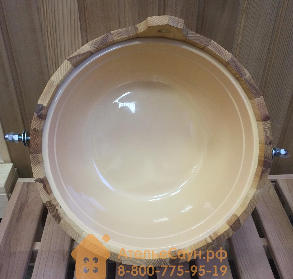 Обливное устройство WoodSon 12 л из липы, с пластиковой вставкой