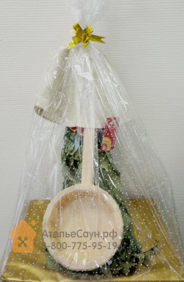 Банный подарочный набор №3 (ковш, шапочка, веник)