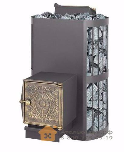 Печь Везувий Скиф 22 ВЧ с закрытой каменкой (топка с выносом, чугунная дверца)