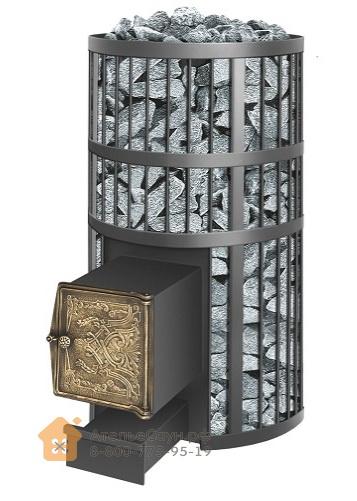 Печь Везувий Русский пар ВЧ (топка с выносом, чугунная дверка)