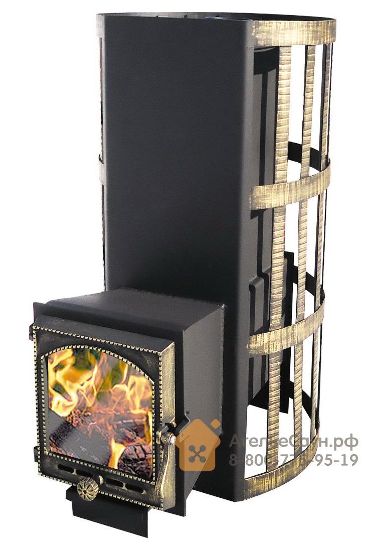 Печь Везувий Вертикаль ВК (кованная сетка, каминная дверца)