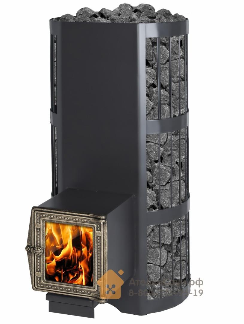 Печь Везувий Вертикаль ВС (кованная сетка, чугунная дверца со стеклом)