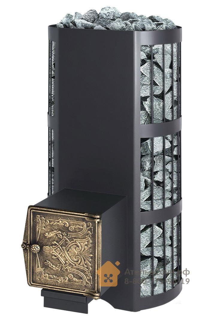 Печь Везувий Вертикаль ВЧ (кованная сетка, чугунная дверца)