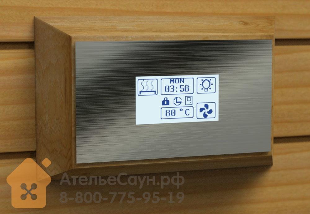 Пульт для сауны Sawo Innova Steel Touch S (сенсорная панель + блок INP-C, для печей до 15 кВт)
