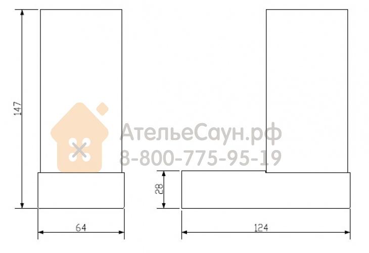 Настенный светильник Cariitti Toive Led прозрачный (1527844, IP44, 2х1W, хрусталь)
