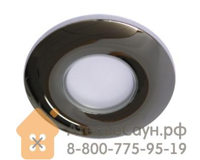 Потолочный светильник Cariitti Amonet (1554007, хром, IP44, алюм. оправа, матовое стекло)