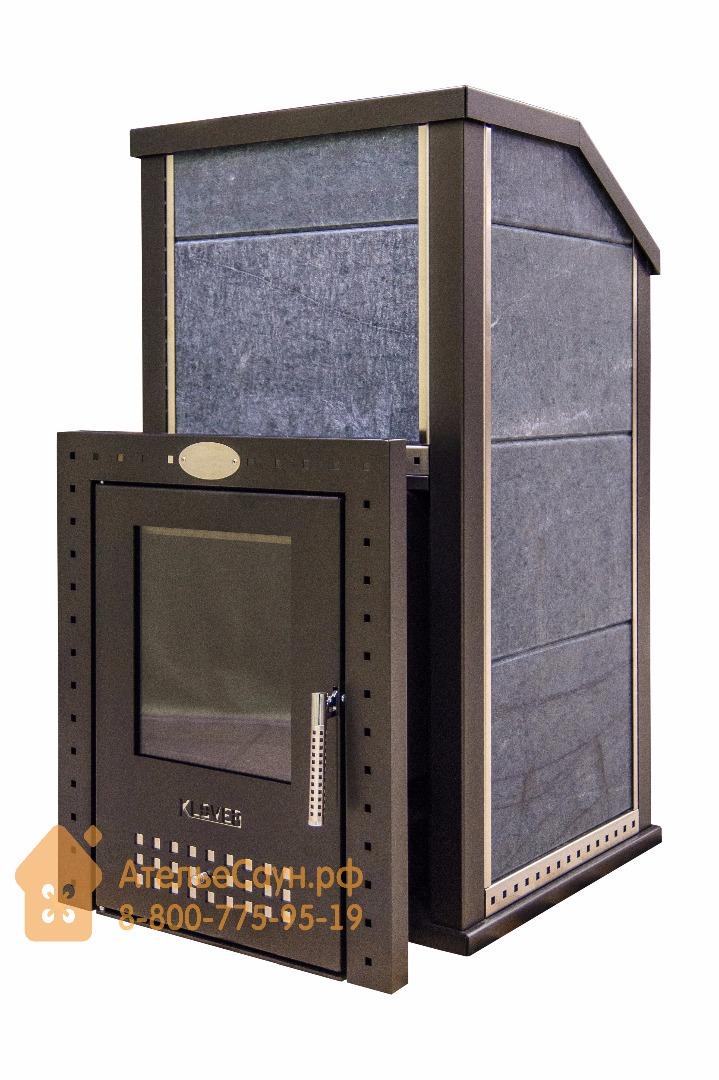 Печь KLOVER RT-20 Р s для русской бани, печь с облицовкой из СЕРПЕНТИНИТА 30 мм