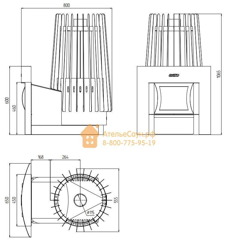 Печь для бани Grill D Cometa 180 (Window black)