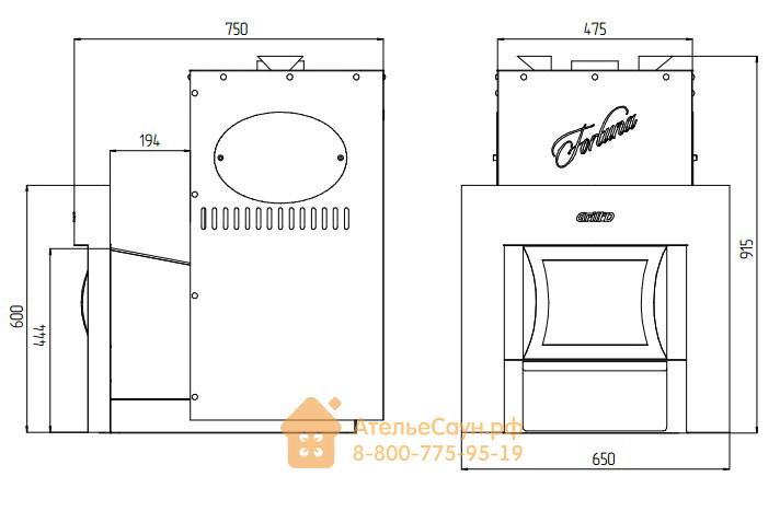Печь для бани Grill D Fortuna 200 (Window black)