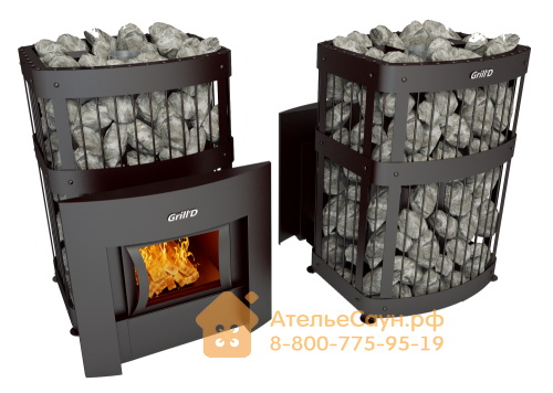 Печь для бани Grill D Fortuna 200 G (Window black)