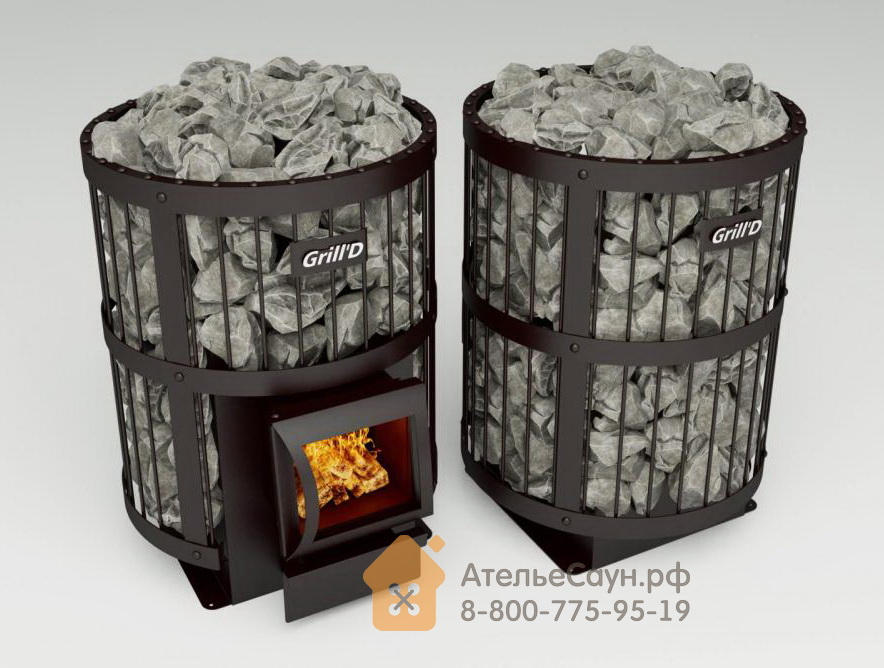 Печь для бани Grill D Leo 130 (Short black)