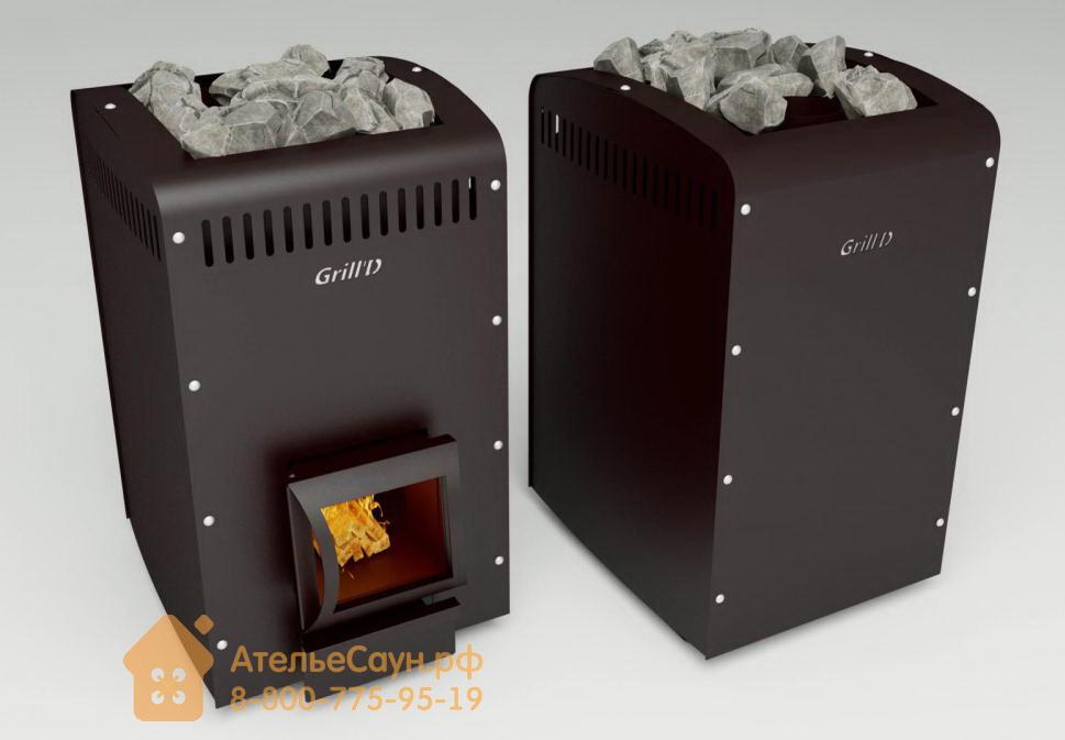 Печь для бани Grill D Оptima 250 (Short black)