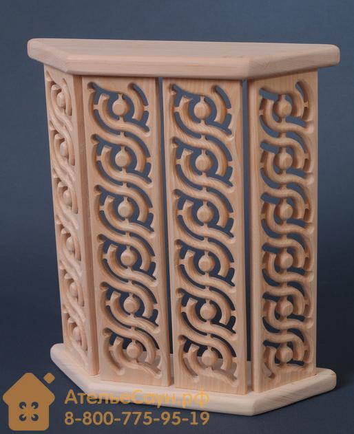 Ограждение светильника АЛЕКСА Р1Н для бани и сауны (кедр сибирский)