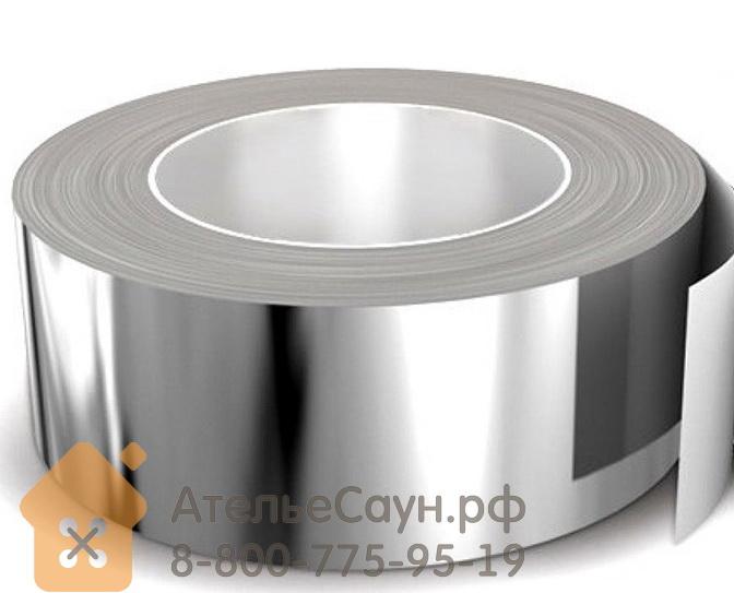Скотч фольга для бани ЛАМС термостойкая (алюминиевая лента 0,05 м х 50 м, до +150 С)