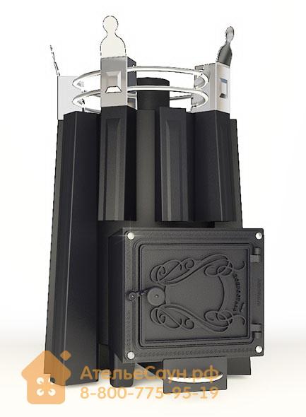 Печь ДобросталЬ Фредерика стронг (черная)