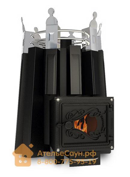 Печь ДобросталЬ Екатерина Великая со стеклом (черная)