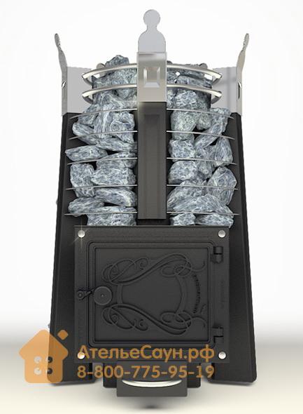 Печь ДобросталЬ Августа стоун стронг (черная)