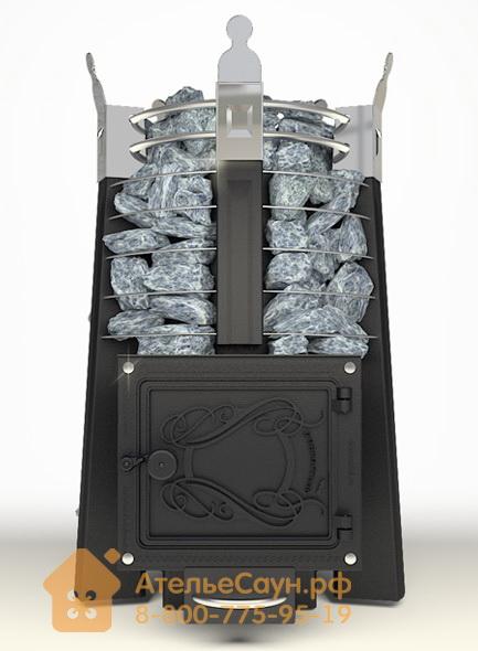 Печь ДобросталЬ Фредерика стоун (черная)
