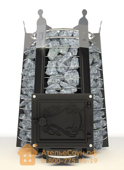 Печь ДобросталЬ Екатерина Великая стоун (черная)