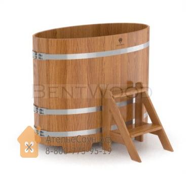 Купель для бани из дуба овальная 0,69х1,31 м (натуральный дуб, полимерное покрытие, H = 1,2 м)