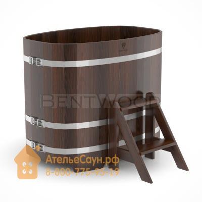 Купель для бани из дуба овальная 0,76х1,16 м (мореный дуб, полимерное покрытие, H = 1,0 м)