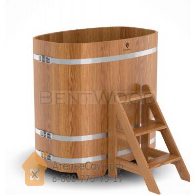 Купель для бани из дуба овальная 0,76х1,16 м (натуральный дуб, полимерное покрытие, H = 1,2 м)