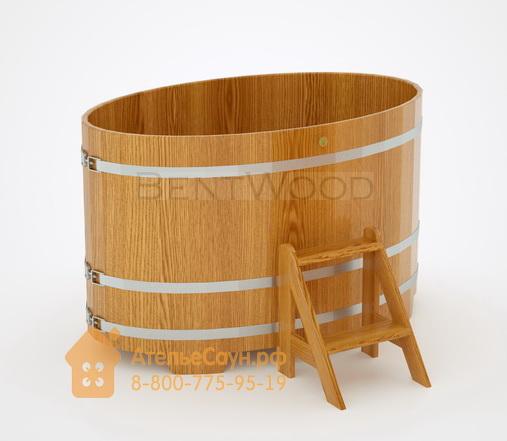 Купель для бани из дуба овальная 0,95х1,60 м (натуральный дуб, полимерное покрытие, H = 1,0 м)