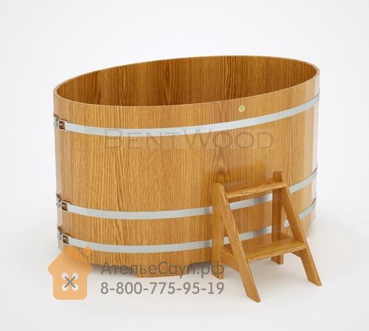 Купель для бани из дуба овальная 1,08х1,75 м (натуральный дуб, полимерное покрытие, H = 1,0 м)