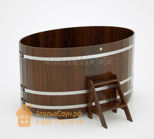 Купель для бани из дуба овальная 1,15х1,83 м (мореный дуб, полимерное покрытие, H = 1,0 м)