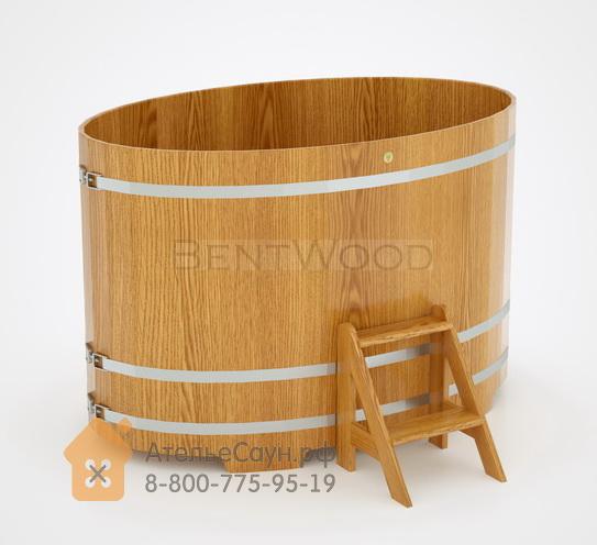 Купель для бани из дуба овальная 1,15х1,83 (натуральный дуб, H = 1,4 м)