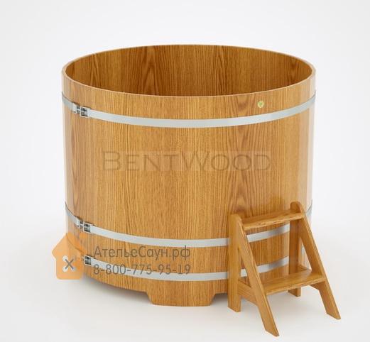Купель для бани дубовая круглая D = 1,5 м (натуральный дуб, полимерное покрытие, H = 1,2 м)